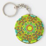 Earthtone Ethnic Look Mandala Keychain