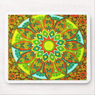 Earthtone Ethnic Look Mandala Mouse Pad