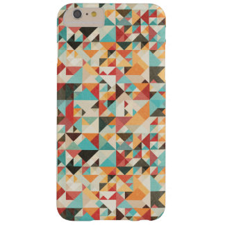 Earthtone Geometric Pattern Barely There iPhone 6 Plus Case