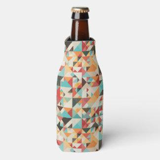 Earthtone Geometric Pattern Bottle Cooler