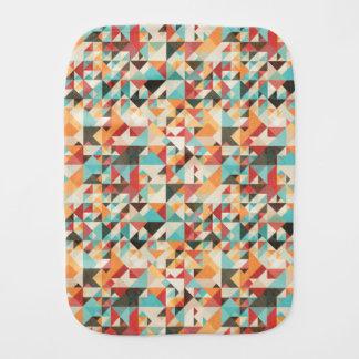 Earthtone Geometric Pattern Burp Cloth