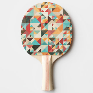 Earthtone Geometric Pattern Ping Pong Paddle