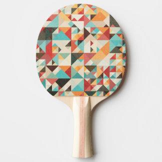 Earthtone Geometric Pattern Ping Pong Paddle