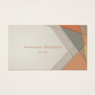 Earthtone layered business card