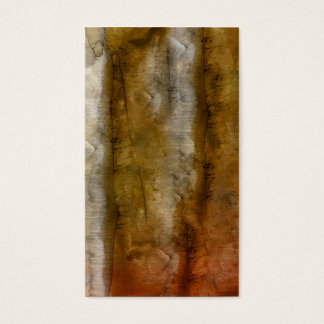 Earthtone Watercolor - Brown Warm Earth Tones Business Card