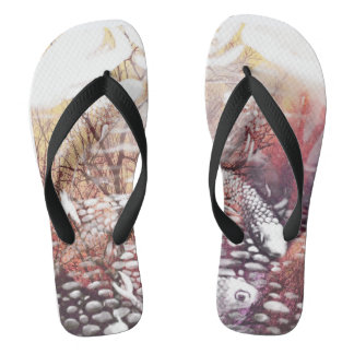 Earthtones Koi Flip Flops