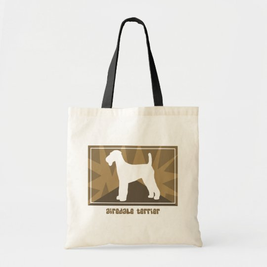 Earthy Airedale Terrier Bag