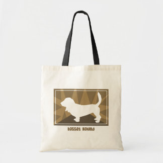 Earthy Basset Hound Gifts Tote Bag