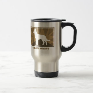 Earthy Belgian Malinois Travel Mug