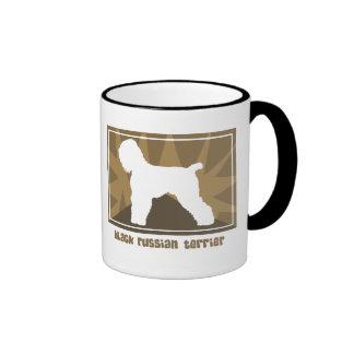 Earthy Black Russian Terrier Ringer Mug