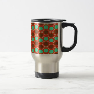 Earthy Brown and Sage Bubble Eyelets 15 Oz Stainless Steel Travel Mug