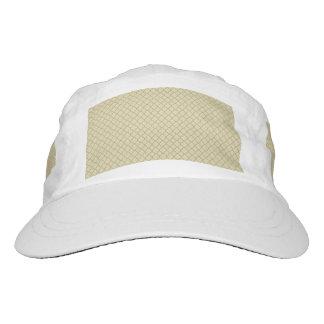 Earthy Brown Quatrefoil on Gold Hat