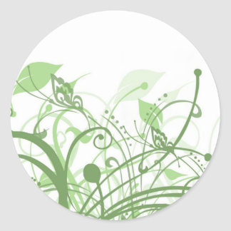 Earthy Butterflies Classic Round Sticker