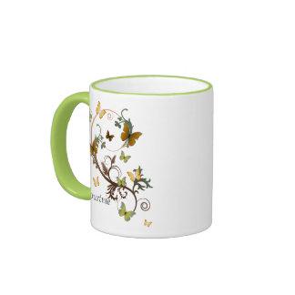 Earthy Butterflies Ringer Mug