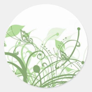 Earthy Butterflies Round Sticker