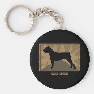 Earthy Cane Corso Key Ring