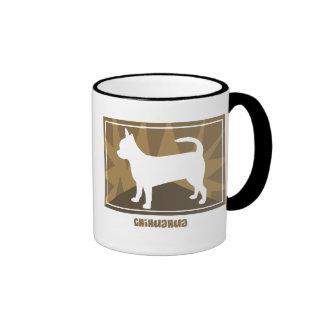 Earthy Chihuahua Ringer Mug