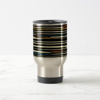 Earthy Colors Stripey> Travel Mugs