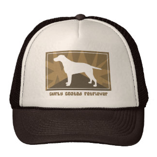 Earthy Curly Coated Retriever Hat