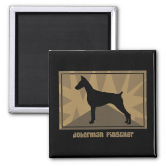 Earthy Doberman Pinscher Magnet