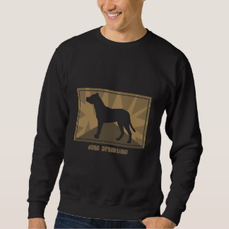 Earthy Dogo Argentino Pullover Sweatshirts