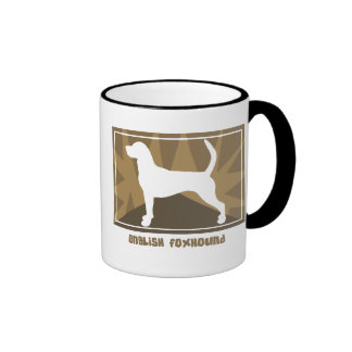 Earthy English Foxhound Ringer Coffee Mug