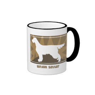 Earthy Gordon Setter Ringer Coffee Mug