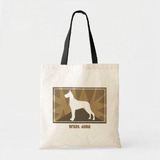 Earthy Great Dane Tote Bag
