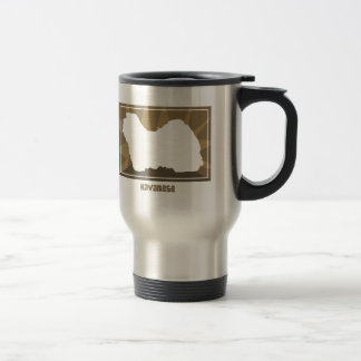 Earthy Havanese 15 Oz Stainless Steel Travel Mug