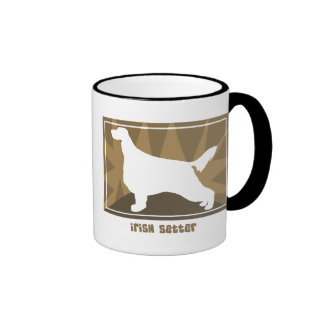 Earthy Irish Setter Ringer Coffee Mug