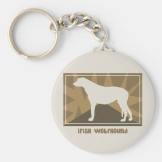 Earthy Irish Wolfhound Keychain
