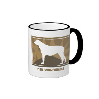 Earthy Irish Wolfhound Mug