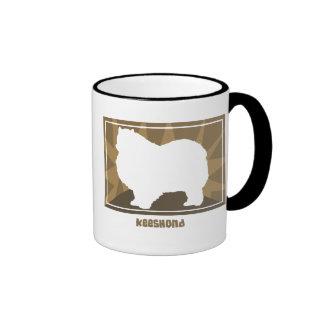Earthy Keeshond Coffee Mugs