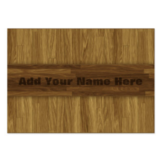 Earthy Laminate Wood Panel Look Business Cards