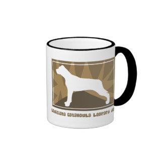 Earthy Louisiana Catahoula Leopard Dog Coffee Mugs