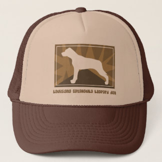 Earthy Louisiana Catahoula Leopard Dog Trucker Hat