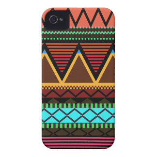 Earthy Neon Modern Tribal Case-Mate iPhone 4 Case