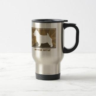 Earthy Norwich Terrier Stainless Steel Travel Mug