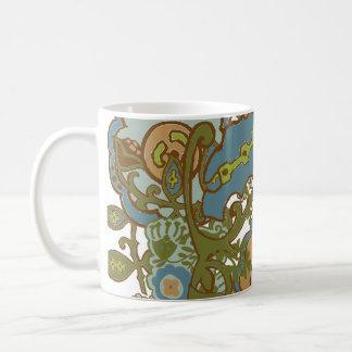 Earthy Paisley Basic White Mug