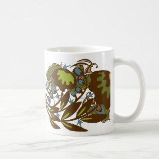 Earthy Paisley Flower Basic White Mug