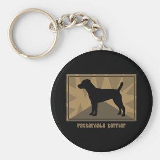 Earthy Patterdale Terrier Keychain
