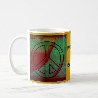 Earthy Peace Basic White Mug