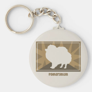 Earthy Pomeranian Keychain