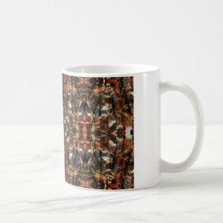 Earthy psychedelic printed basic white mug