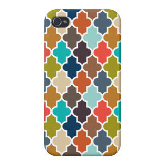 Earthy Quatrefoil Cover For iPhone 4