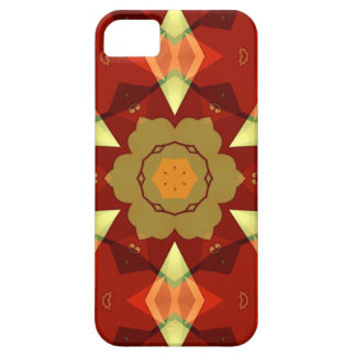 earthy red, green and yellow enamel like geometric case for the iPhone 5