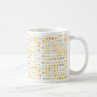 Earthy Retro Dots Basic White Mug