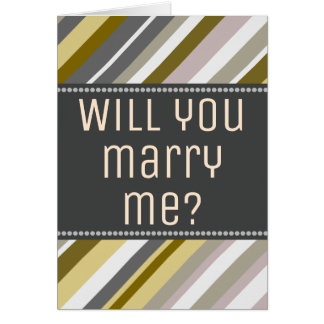 "Earthy, Rustic ""Will you marry me?"" Card"