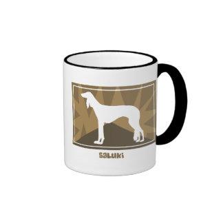 Earthy Saluki Coffee Mugs