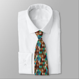 Earthy Scaled Tie